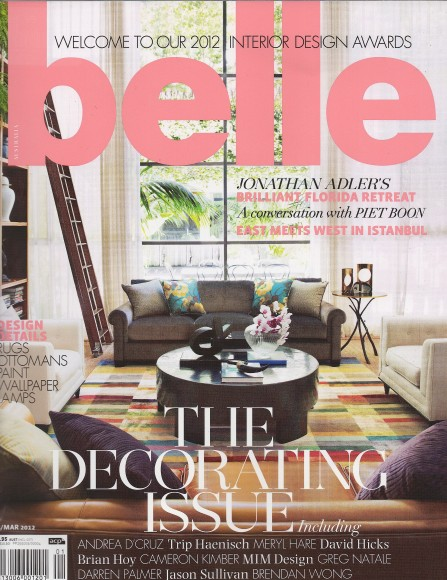 Belle Magazine Feb_March Issue - cover MySuites&Co in Belle Magazine - Interior  Design ...