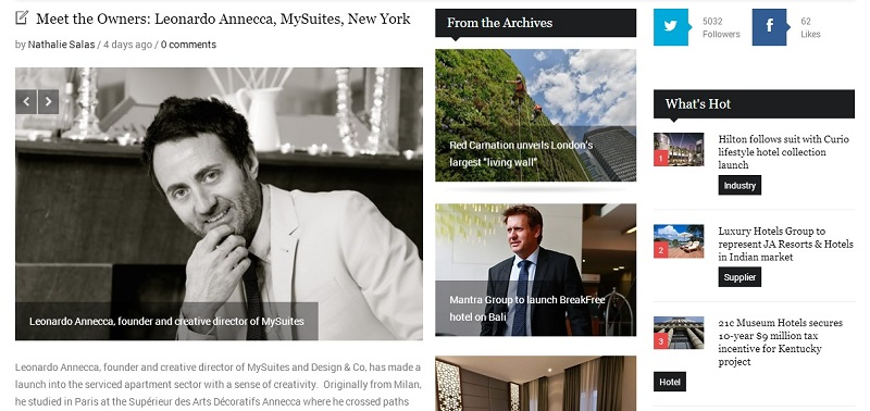 Interview MySuites founder Leonard Annecca on Boutique Hotel News
