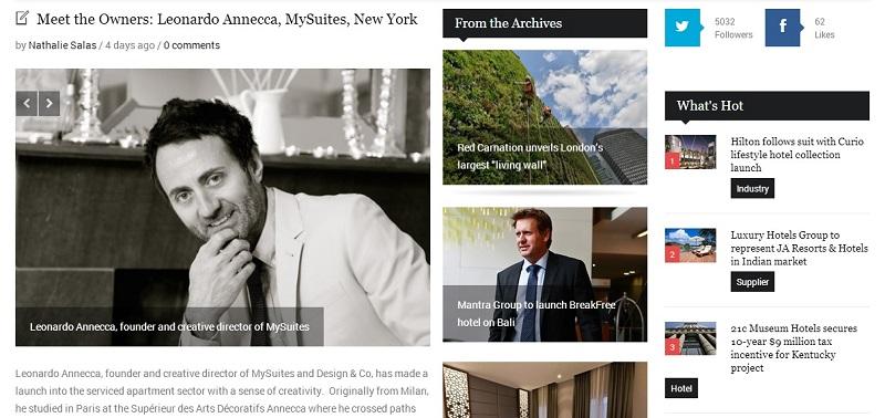 Interview MySuites founder Leonard Annecca on Boutique Hotel News